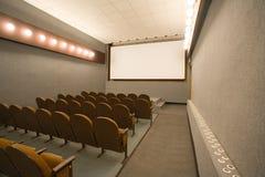 Pequeño auditorio vacío del cine Imagen de archivo