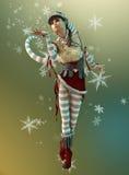 Pequeño ayudante Elsie, 3d CG de Santas ilustración del vector
