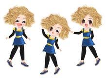 Pequeño bailarín Girl ilustración del vector