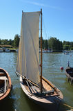 Pequeño barco de navegación Fotografía de archivo libre de regalías