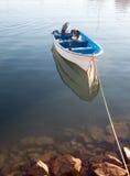 Pequeño barco de pesca anclado en el puerto deportivo de Cabo San Lucas en Baja Sur México Imagen de archivo libre de regalías