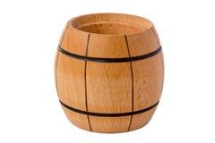 Pequeño barril de madera Imagenes de archivo