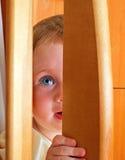 Escondite del bebé Fotografía de archivo libre de regalías