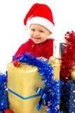 Pequeño bebé del ayudante de Santa Imagen de archivo