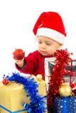 Pequeño bebé del ayudante de Santa Foto de archivo libre de regalías