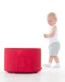 Pequeño bebé dulce con la caja Imágenes de archivo libres de regalías