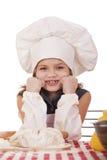 Pequeño bebé hermoso vestido como cocinero Fotografía de archivo libre de regalías