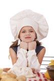 Pequeño bebé hermoso vestido como cocinero Imágenes de archivo libres de regalías