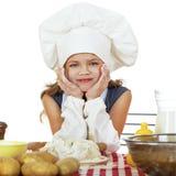 Pequeño bebé hermoso vestido como cocinero Foto de archivo libre de regalías