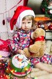 Pequeño bebé lindo de santa Fotos de archivo libres de regalías