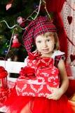 Pequeño bebé lindo de santa Foto de archivo libre de regalías
