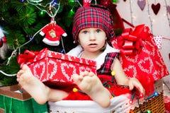 Pequeño bebé lindo de santa Fotos de archivo