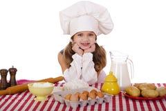 Pequeño bebé lindo vestido como cocinero Foto de archivo libre de regalías
