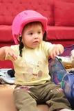 Pequeño bebé rubio Foto de archivo