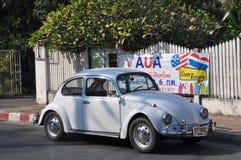 Pequeño blanco del coche Imagen de archivo libre de regalías