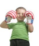 Pequeño boxeador sonriente Fotos de archivo