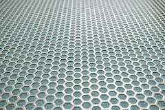 Pequeño célula-como el fondo de la malla metálica de la célula, formas hexagonales fotografía de archivo