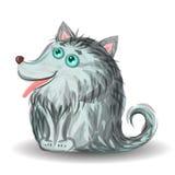 Pequeño cachorro de lobo divertido Fotografía de archivo libre de regalías