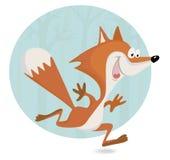 Pequeño cachorro del zorro en el bosque Imagenes de archivo