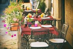 Pequeño café en Toscana, Italia imagen de archivo