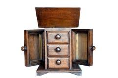 Pequeño cajón de madera tailandés fotografía de archivo libre de regalías