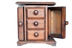 Pequeño cajón de madera tailandés imagen de archivo