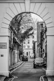 Pequeño callejón, Londres - Kensington del sur Foto de archivo