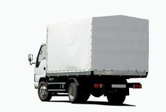 Pequeño camión blanco imagenes de archivo