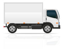 Pequeño camión para el ejemplo del vector del cargo del transporte Imagen de archivo libre de regalías