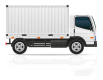 Pequeño camión para el ejemplo del vector del cargo del transporte Fotos de archivo libres de regalías