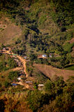 Pequeño campo del pueblo Fotografía de archivo libre de regalías