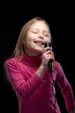 Pequeño cantante Fotografía de archivo