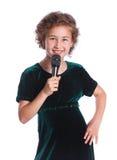 Pequeño cantante Imagen de archivo