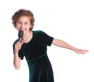 Pequeño cantante Imagen de archivo libre de regalías
