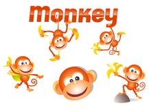 Pequeño carácter del mono Fotos de archivo libres de regalías
