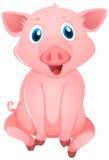 Pequeño cerdo con la cara feliz ilustración del vector