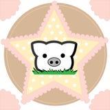 Pequeño cerdo lindo Fotos de archivo libres de regalías