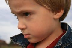 Pequeño chico duro Foto de archivo libre de regalías