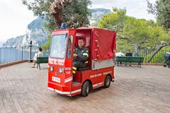 Pequeño coche de bomberos Fotografía de archivo