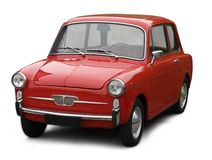 Pequeño coche italiano clásico. Imágenes de archivo libres de regalías