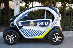Pequeño coche policía Imagen de archivo libre de regalías