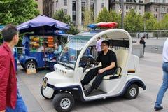 Pequeño coche policía Fotografía de archivo