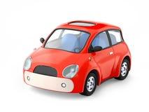Pequeño coche rojo lindo fotos de archivo