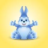 Pequeño conejito divertido azul Foto de archivo libre de regalías
