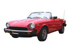 Pequeño convertible rojo Foto de archivo