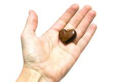Pequeño corazón de madera Imagen de archivo