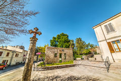 Pequeño cuadrado en Monteleone Roccadoria Fotografía de archivo