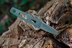 Pequeño cuchillo que lanza Fotografía de archivo libre de regalías