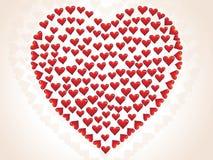 Pequeño día de tarjeta del día de San Valentín del corazón Foto de archivo libre de regalías
