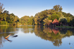 Pequeño Danubio en Eslovaquia fotos de archivo libres de regalías